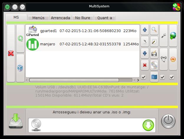 MultiSystem amb Manjaro instal·lat