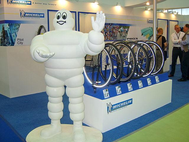 El ninot de Michelin en una convenció a Taipei.